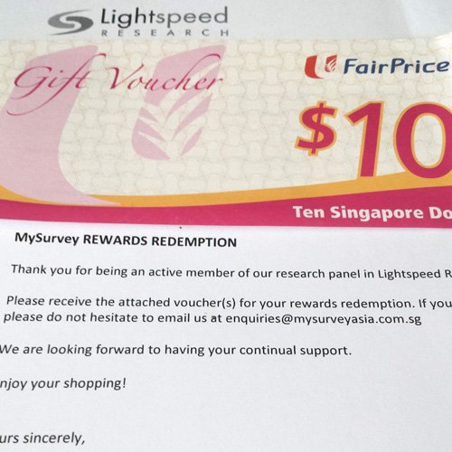 MySurvey Payment Proof NTUC Voucher