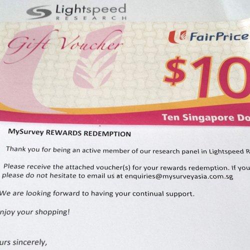 MySurvey Payment Proof NTUC Voucher