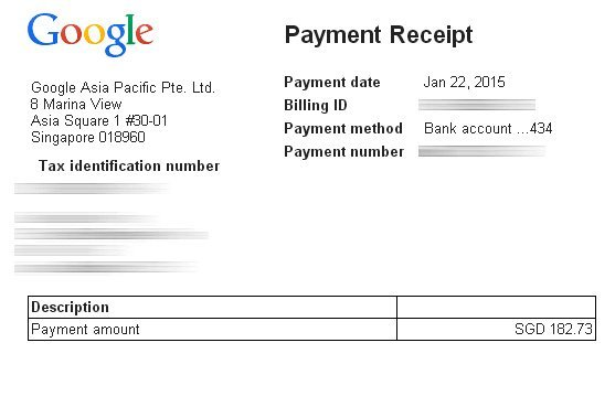 Google Adsense Payment Receipt 2015 | Turtle Investor - More Than ...