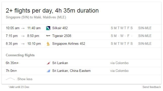 sin-male-flights-timings