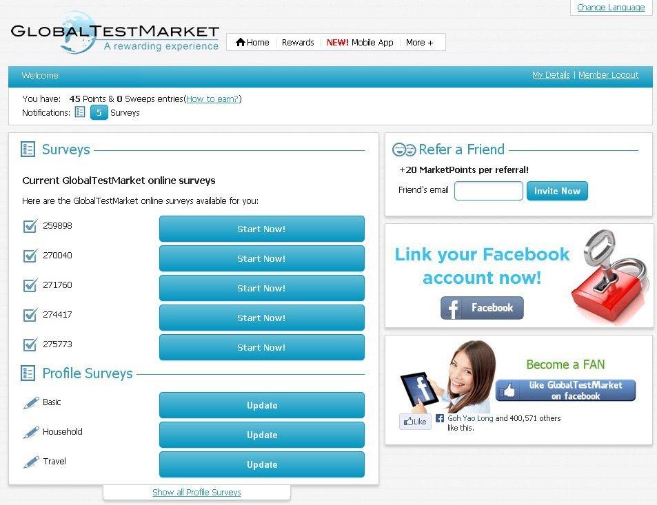 Paid Survey – Global Test Market | Turtle Investor - More