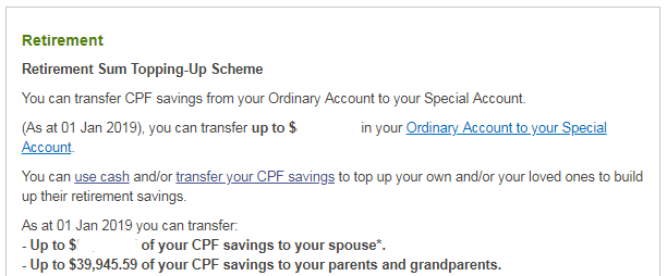 Withdraw Money From CPF Ordinary Account - Possible Scenarios